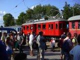 Nádraží v Bechyni při oslavách 22.6. 2013